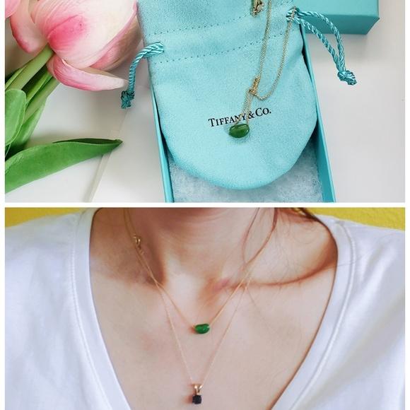 f5b38325c Tiffany & Co. Jewelry | Tiffany Elsa Peretti Green Jade Bean Gold ...